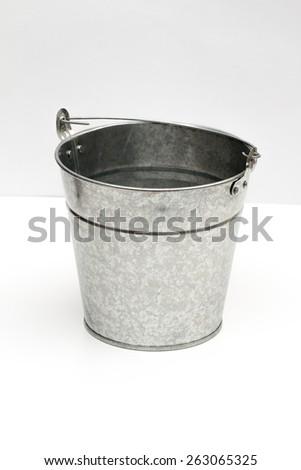 bucket on the white background - stock photo