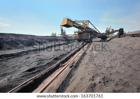 Bucket wheel excavator - stock photo