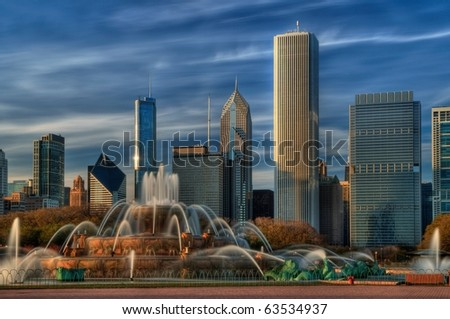 Buckingham fountain, Chicago - stock photo