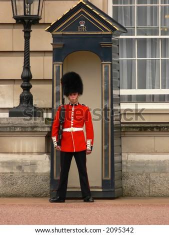Buckingham Palace guard - stock photo
