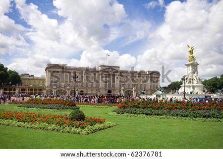 buckingham palace, london, uk - stock photo