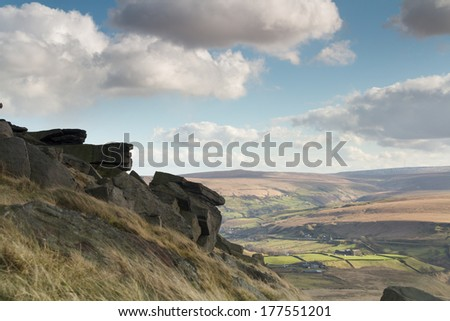 Buckstone edge calderdale west yorkshire - stock photo