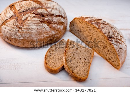 buckwheat bread on white background - stock photo