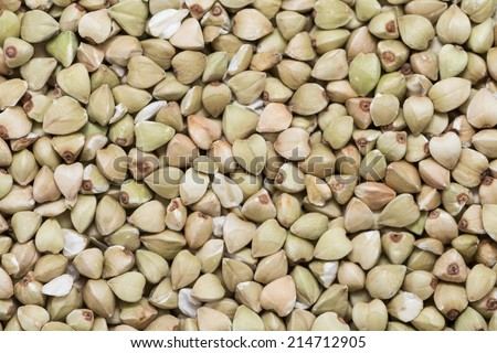 Buckwheat (detailed macro shot) for use as background image or texture - stock photo