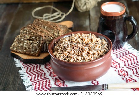 buckwheat in a bowl