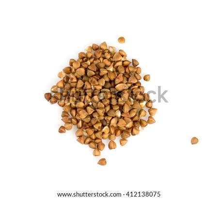 buckwheat isolated on white