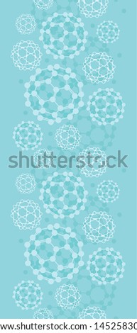 Buckyballs vertical seamless pattern background border raster - stock photo