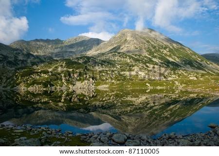 Bucura lake in Retezat mountains, Romania - stock photo