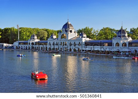 Budapest activity park - boating lake and skating rink