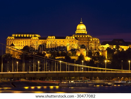 Budapest at night from the Freedom bridge