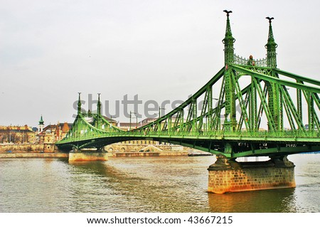 Budapest bridge - stock photo