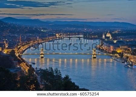 Budapest by Night - stock photo