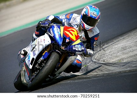 BUDAPEST, HUNGARY - APRIL 26: KALAB Igor competes in Alpe-Adria championship - on April 26, 2009 in Budapest, Hungary, - stock photo