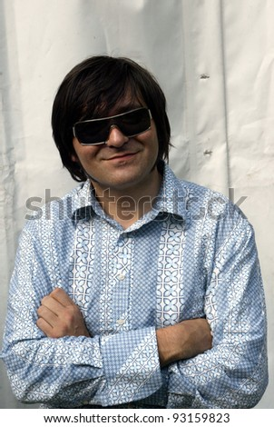BUDAPEST, HUNGARY - AUGUST 10: Die Aerzte (Die Arzte) perform at the annual Sziget music festival in Budapest, Hungary, on Tuesday, August 10, 2004. Seen here is bassist Rod Gonzales.