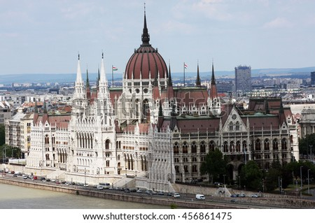Budapest, Hungary - June 05, 2013: view of Hungarian Parliament building.