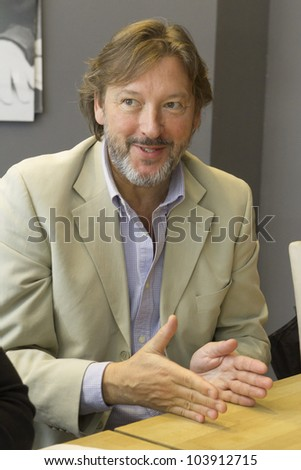 "BUDAPEST, HUNGARY - MAY 29:Laszlo Galffi, actor of Orkeny Theater, prof. of Hungarian Filmacademy gives interview. on May 29, 2012 in Budapest, Hungary. Galffi awarded Pantalone prize in 2011 for acting as ""best king""."