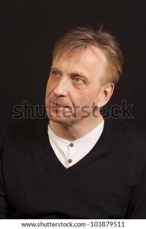 BUDAPEST, HUNGARY - MAY 29: Pal Macsai, actor, director of Orkeny Theater gives interview. on May 29, 2012.. Macsai got the Voice of the Year in 2012.