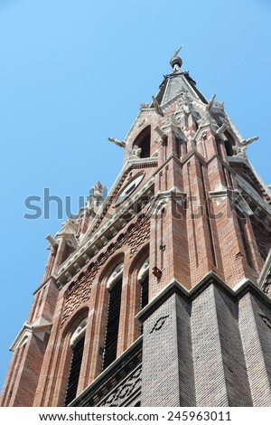 Budapest, Hungary - neo-gothic Queen of Rosary church in Zuglo district.