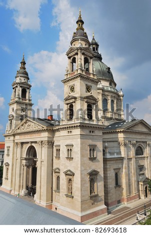 Budapest, Hungary. Very beautiful and majestic Basilica of St. Stephen in Pest