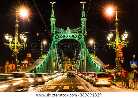 Budapest, Liberty Bridge, Hungary - stock photo