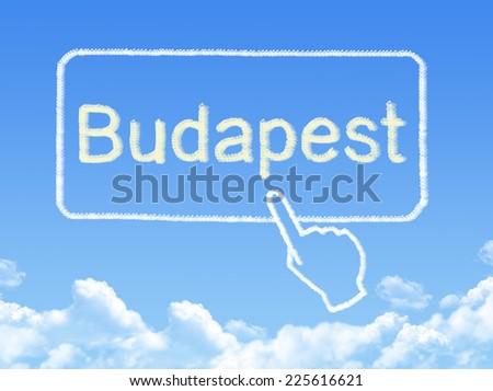 Budapest message cloud shape - stock photo