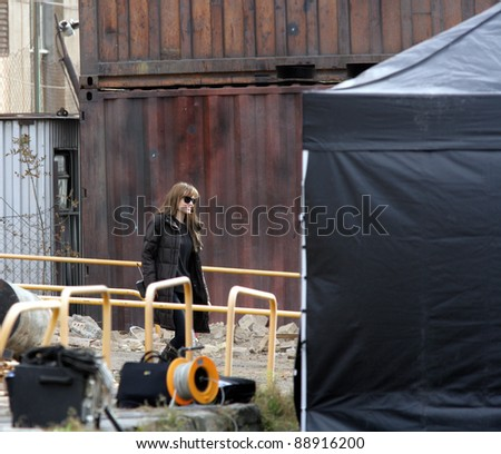 BUDAPEST - NOVEMBER 4: Angelina Jolie, in the role of director, on the set of In The Land Of Blood And Honey in Budapest, Hungary, on Thursday, November 4, 2010.