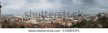 Budapest panorama - stock photo