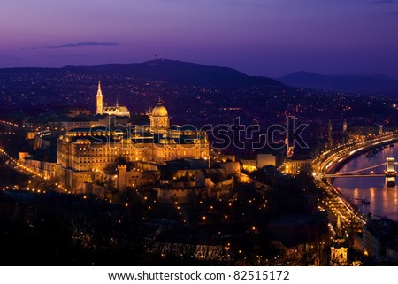 Budapest panorama by nightfall