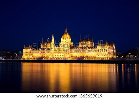 Budapest Parliament at Dusk, Hungary