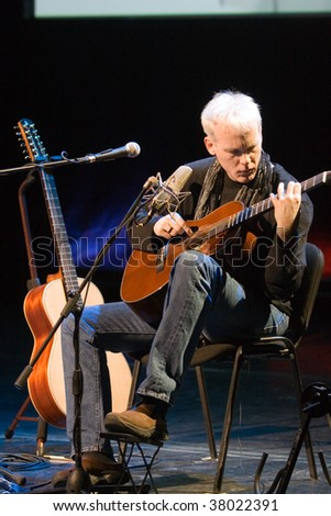 BUDAPEST - SEPTEMBER 27: Guitarist Kevin Kastning performs on stage of Millenaris September 27, 2009 in Budapest, Hungary