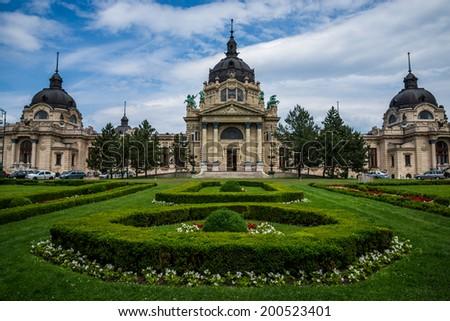 Budapest Szechenyi thermal. - stock photo