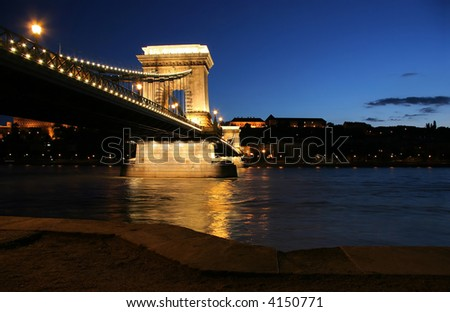 Budapest, the capital city of Hungary in the blue hour