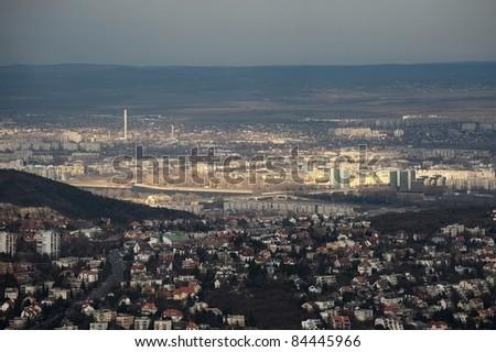 Budapest twilight panorama - stock photo