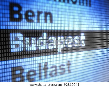Budapest. World capitals  Full collection of icons like that is in my portfolio - stock photo