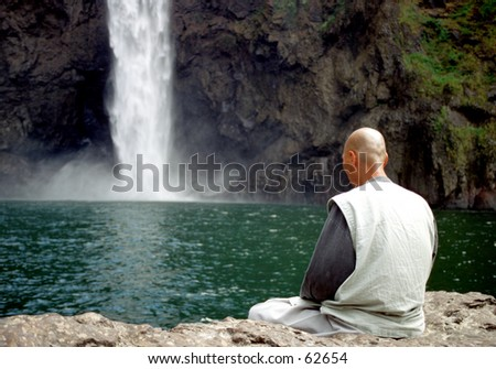 Buddest prayer - stock photo