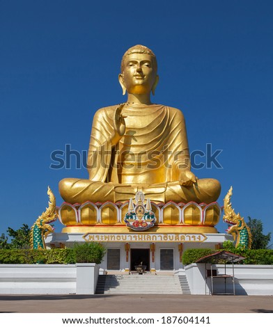 Buddha and blue sky