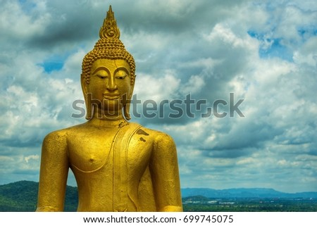 Buddha and clouds