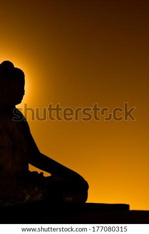 Buddha at Borobudur, Indonesia - stock photo