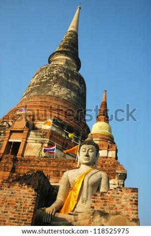 Buddha Ayuthaya Thailand - stock photo