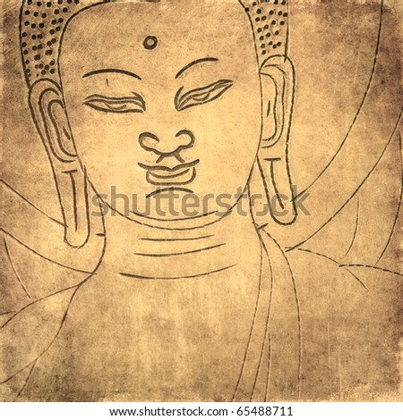 buddha background - stock photo