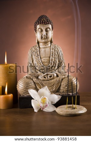 Buddha, candles,
