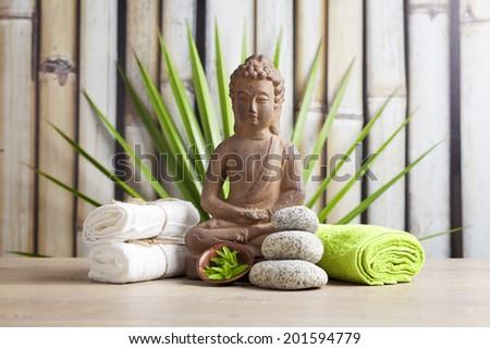 Buddha closeup, religious concept  - stock photo
