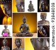 Buddha Collage - stock photo