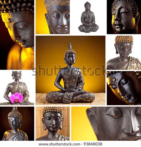 Buddha Collage - stock photo
