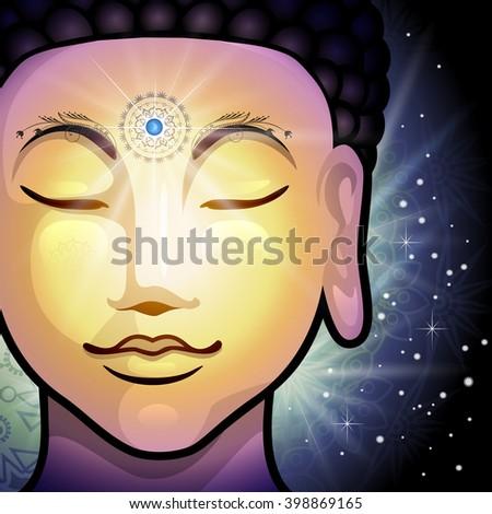 Buddha Face  - stock photo