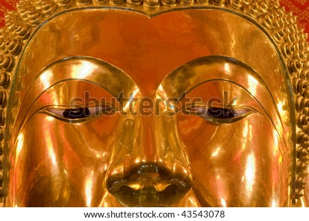 buddha face - stock photo