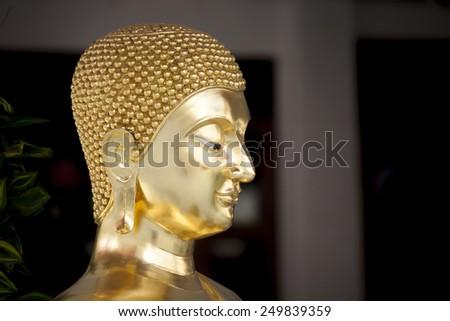Buddha gold statue - stock photo