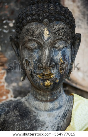 Buddha head statue in Thailand - stock photo