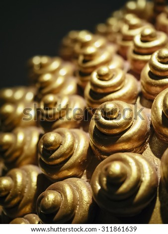 Buddha head symbol close up - stock photo