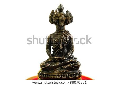 Buddha image on the white background,Thailand - stock photo